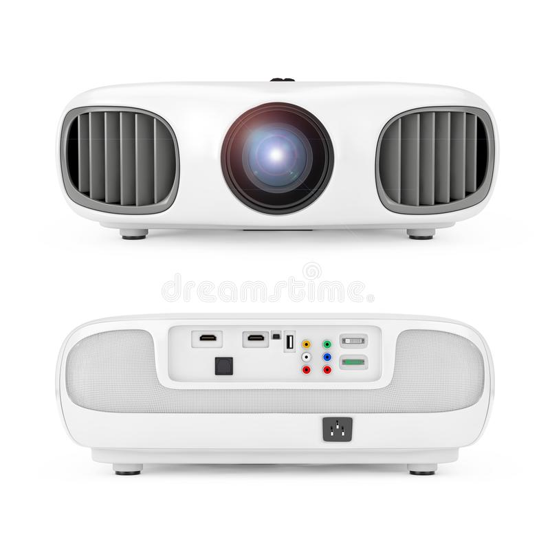 Home Cinema Entertainment Full HD Projector. 3d Rendering vector illustration