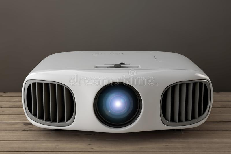 Home Cinema Entertainment Full HD Projector. 3d Rendering royalty free illustration