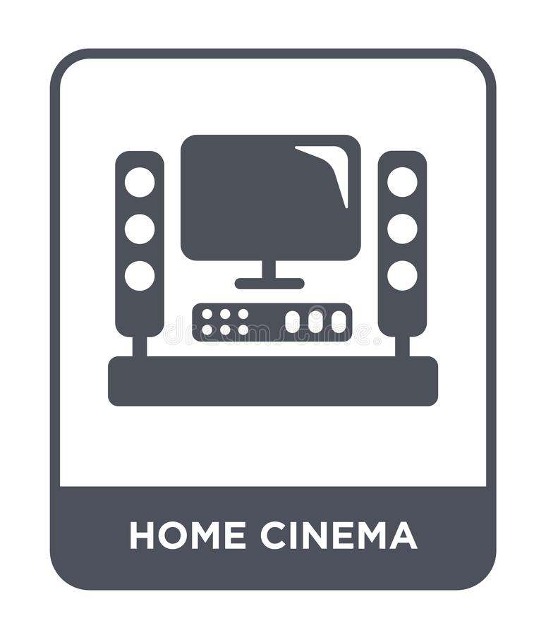 home cinema icon in trendy design style. home cinema icon isolated on white background. home cinema vector icon simple and modern stock illustration