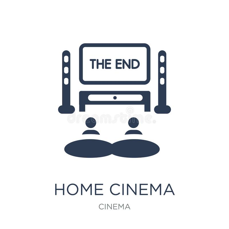 Home cinema icon. Trendy flat vector home cinema icon on white b. Ackground from Cinema collection, vector illustration can be use for web and mobile, eps10 vector illustration