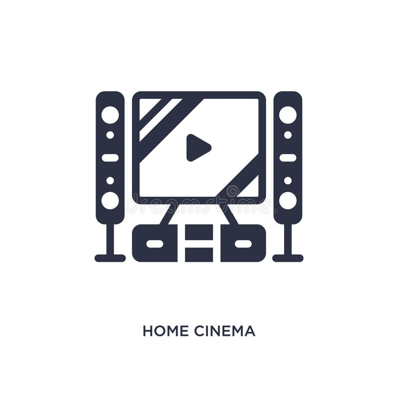 Home cinema icon on white background. Simple element illustration from cinema concept. Home cinema isolated icon. Simple element illustration from cinema concept vector illustration