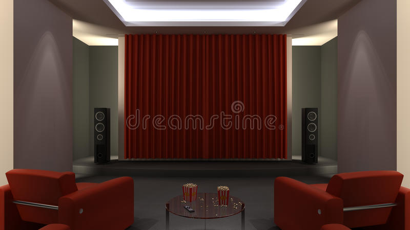 Download Home Cinema stock image. Image of projection, film, couch - 30818407