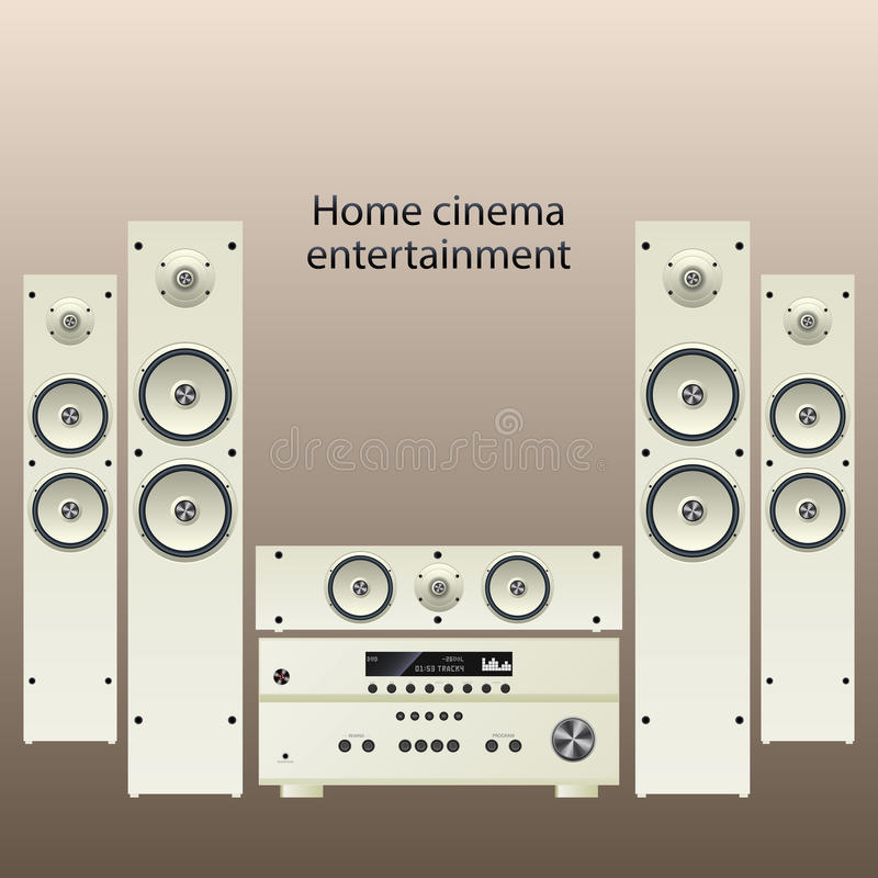Download Home cinema speker system stock illustration. Image of rear - 35575053