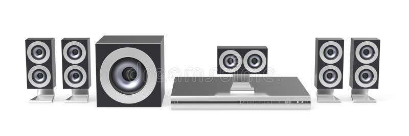 Download Home cinema system stock illustration. Image of fi, satellite - 28828696