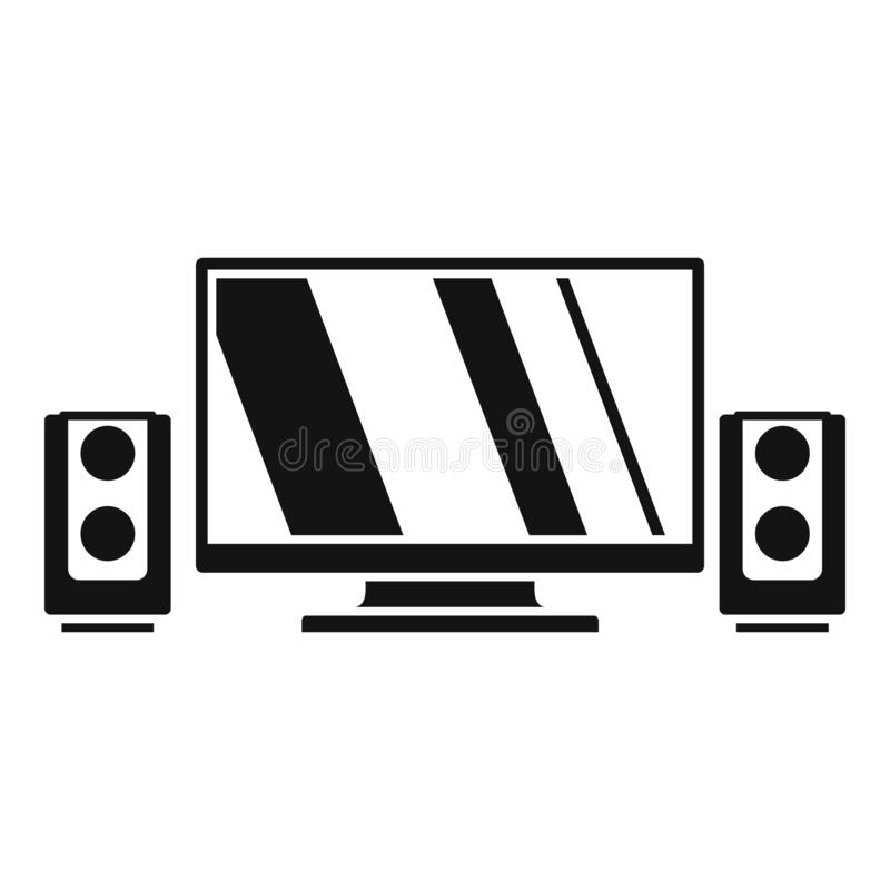 Home cinema system icon, simple style vector illustration
