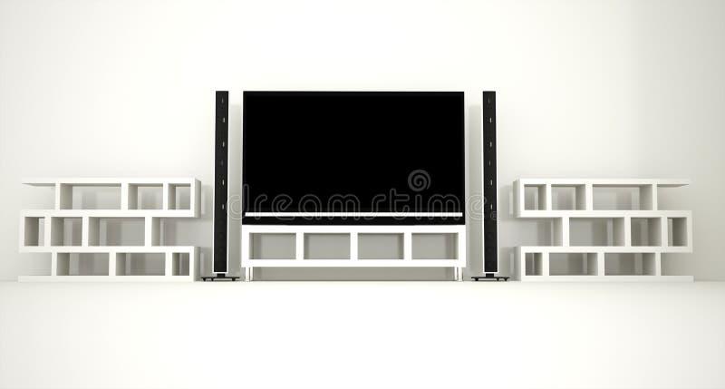 Download Home cinema stock illustration. Image of flat, definition - 41680050