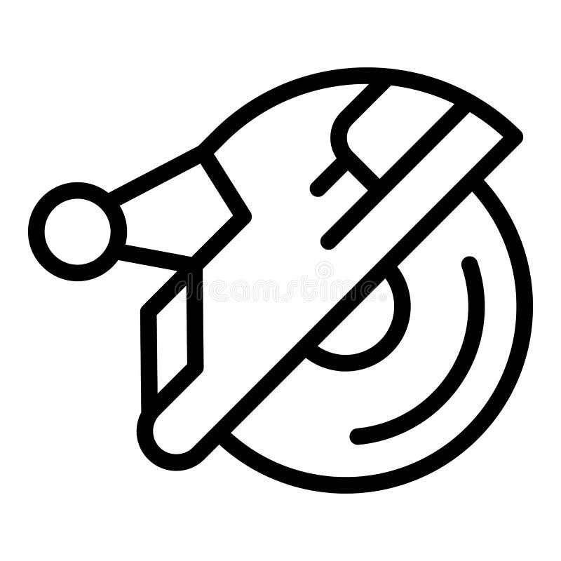 Circular Saw Icon, Outline Style Stock Vector