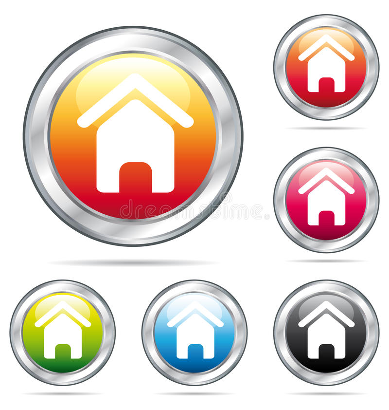 Home colorful buttons. vector illustration