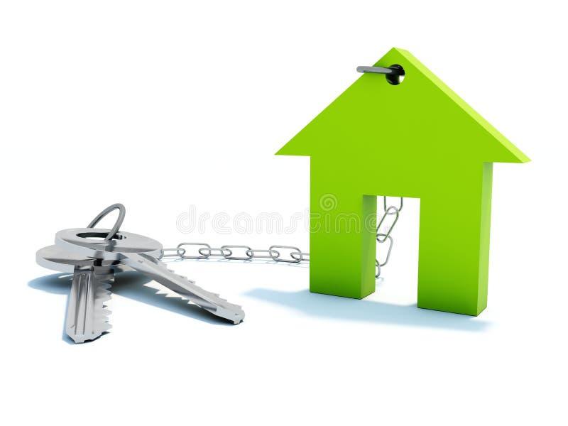 HOME com chaves ilustração stock