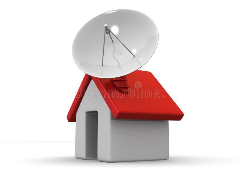 HOME com satélite ilustração stock