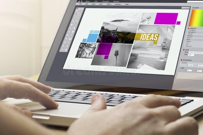 home computing graphic design royalty free stock photo