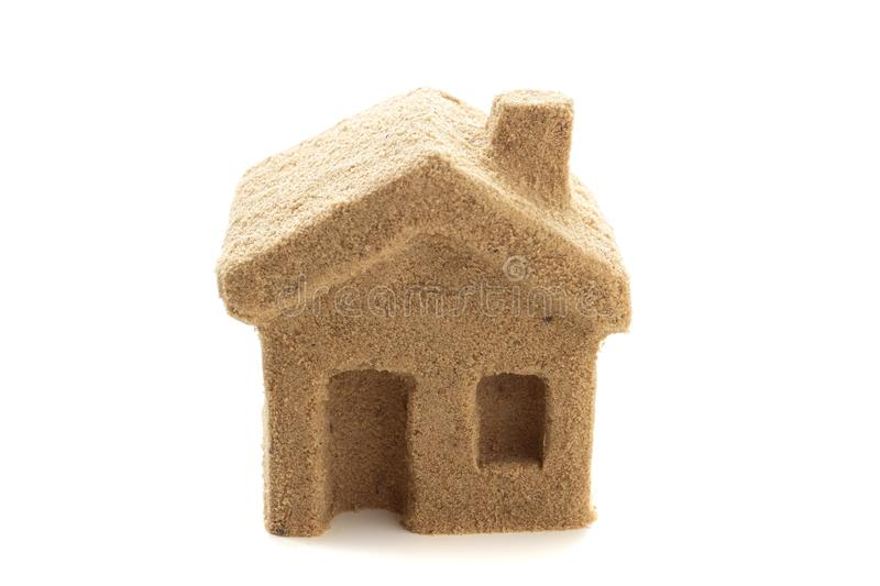 Home concept sand house conceptual business icon on white,  idea. Home concept sand house conceptual business icon on white background,  idea stock image