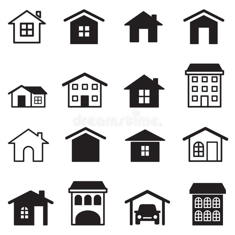Home, Condominium, Tower, Apartment Icons Set Stock Vector ...