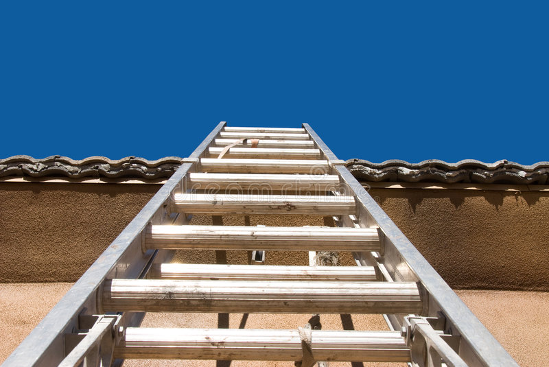Home construction with ladder royalty free stock images