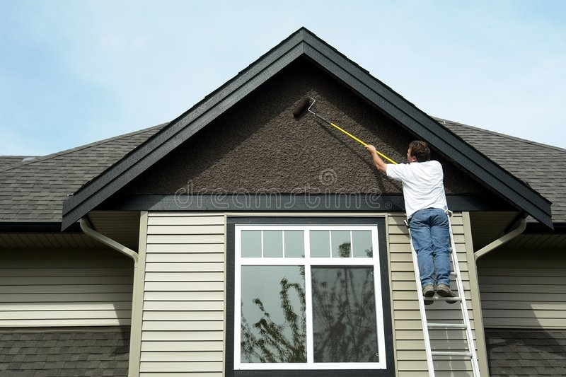 Home Construction - Painting royalty free stock image