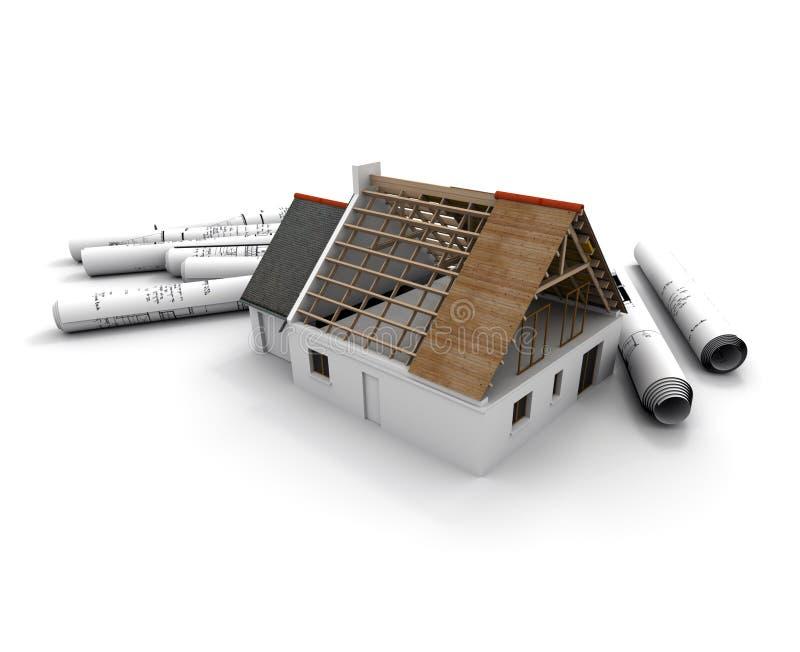 home construction process stock illustration illustration of plan