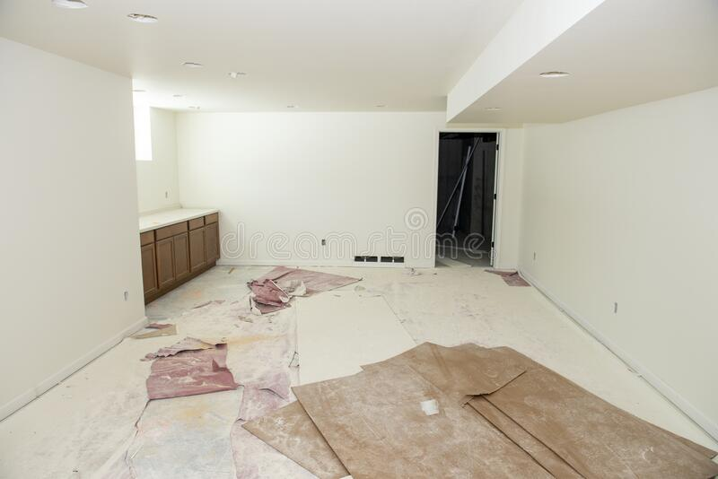 Home Construction, Remodeling, Basement, Downtrap royalty-vrije stock foto