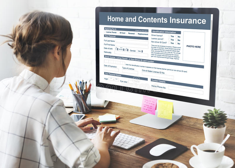 Home Contents Insurance Protection Safety Concept. Home Contents Insurance Protection Safety stock photos