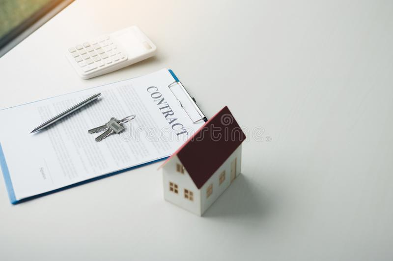 Home contract concept stock photo