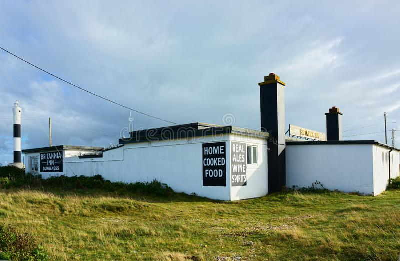 Remote Cafe at Dungeness, Kent. UK stock photos