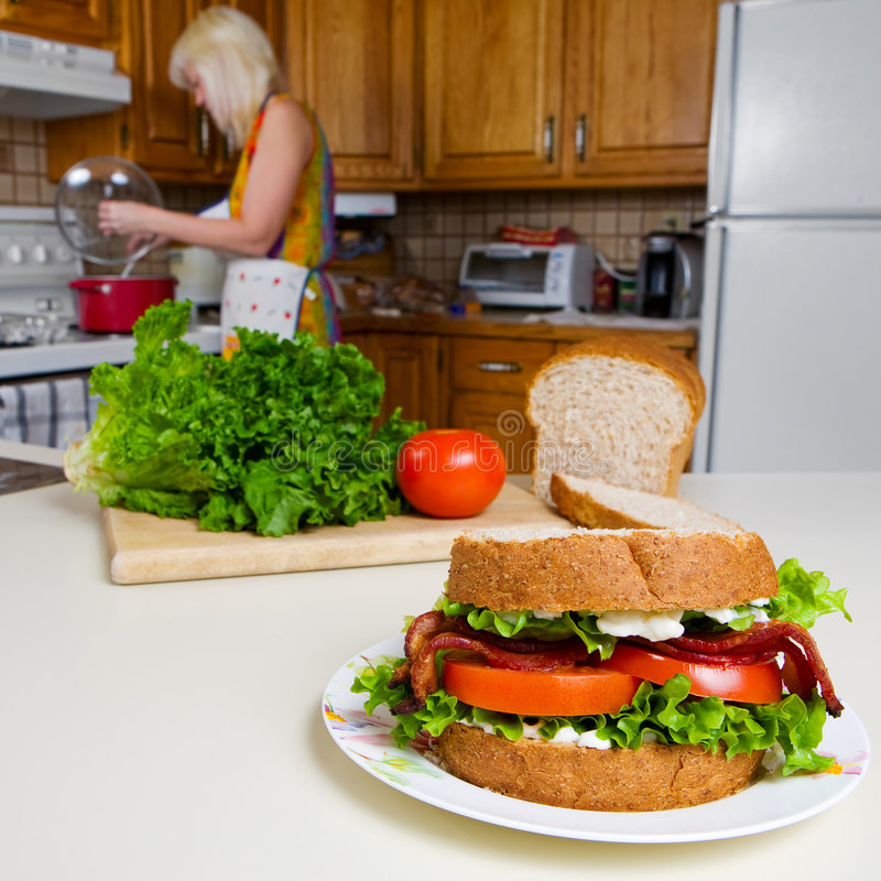 Download Home cooking stock image. Image of food, lettuce, preparation - 7986885