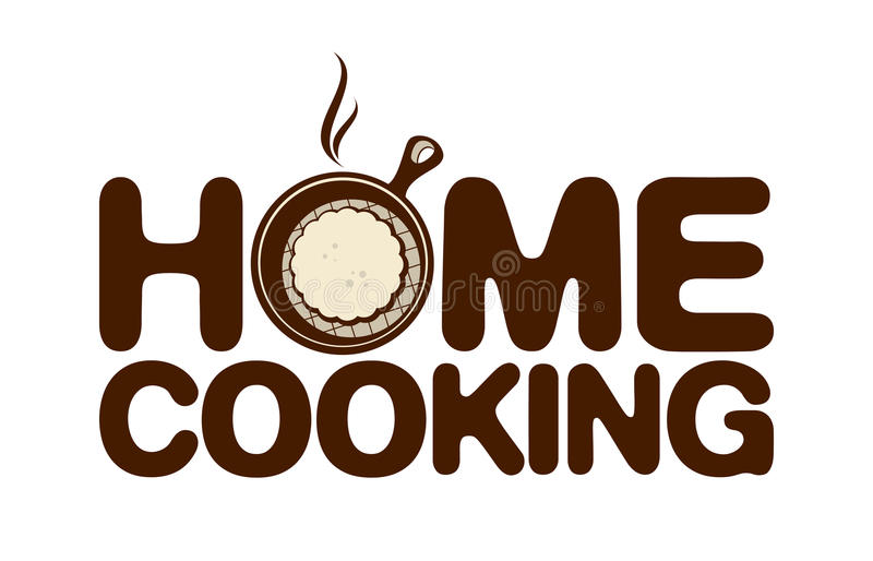 Home cooking icon. Home cooking pan brown icon royalty free illustration
