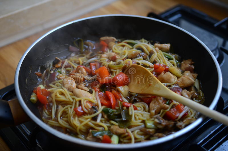 Home Cooking stock photography