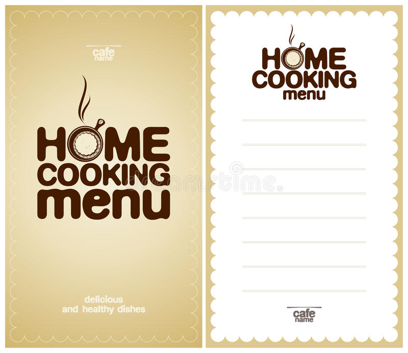 Download Home Cooking Menu Design Template. Stock Vector - Image: 23861365