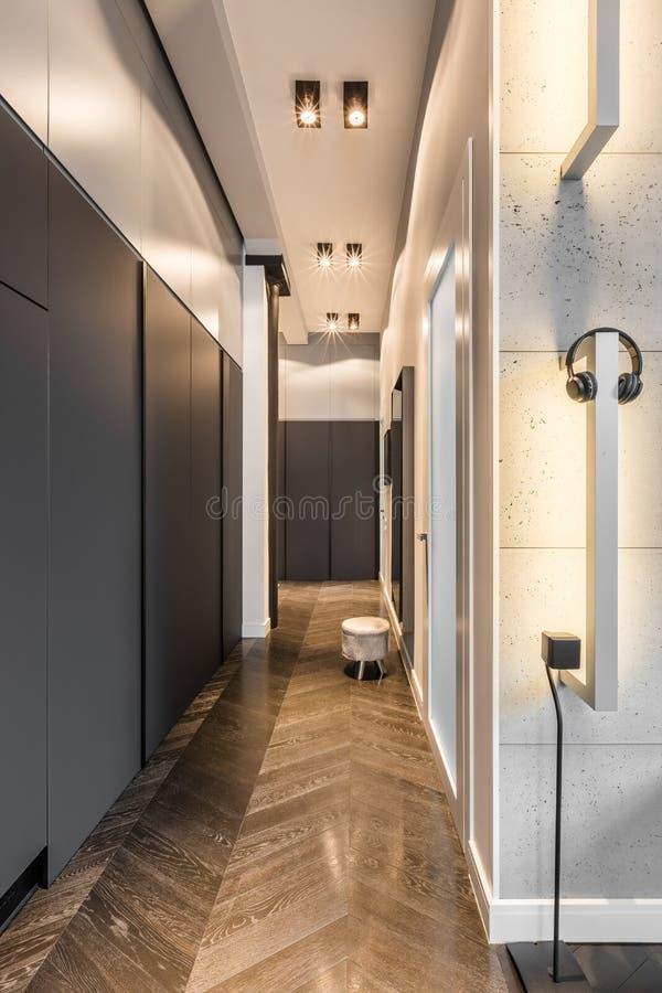 Home corridor with wardrobe royalty free stock image