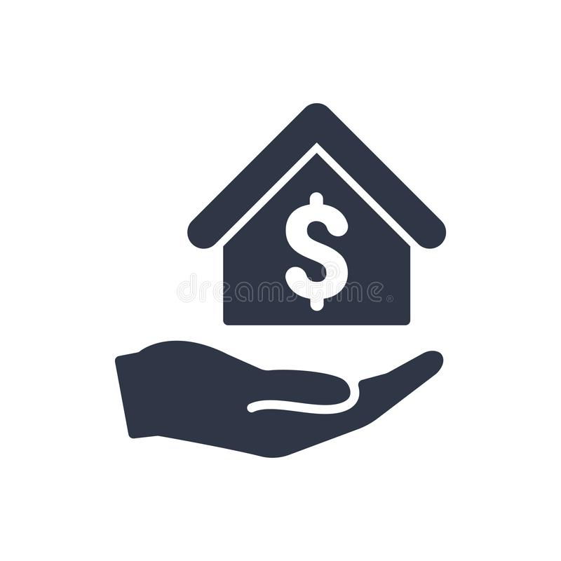 Home cost icon - Dollar stock illustration