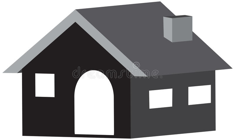 Home 3D icon in design in a white background royalty free stock photo