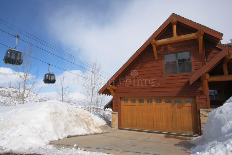 HOME da estância de esqui imagens de stock royalty free