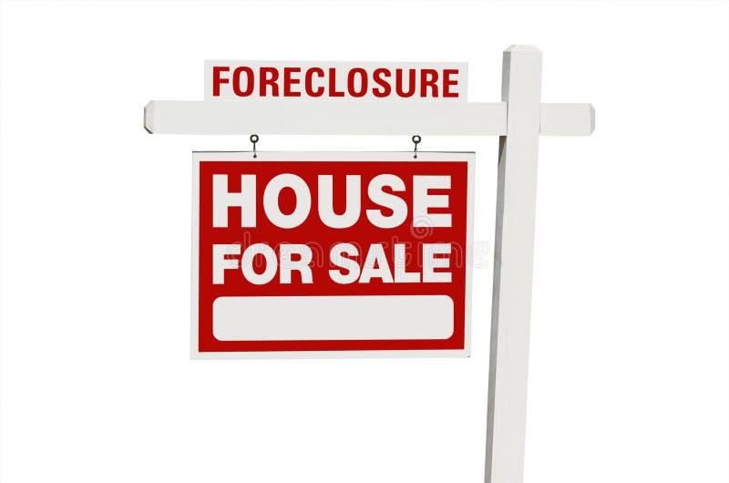 HOME da execução duma hipoteca para o sinal dos bens imobiliários da venda fotos de stock royalty free
