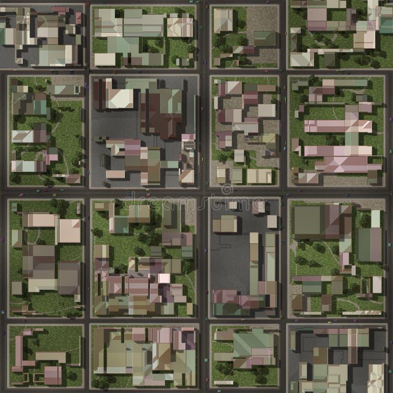HOME da vizinhança da propriedade dos bens imobiliários ilustração stock