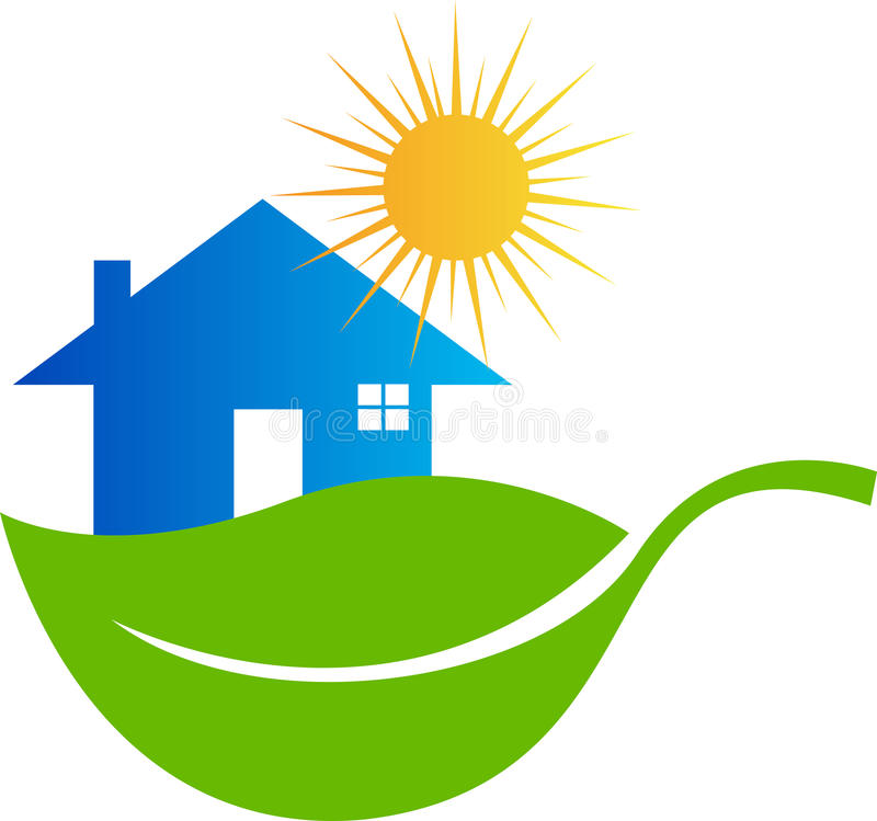 HOME de Eco ilustração stock