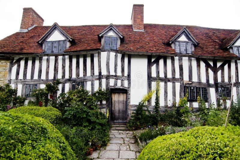 HOME de Mary Arden em Stratford em cima de Avon imagens de stock royalty free