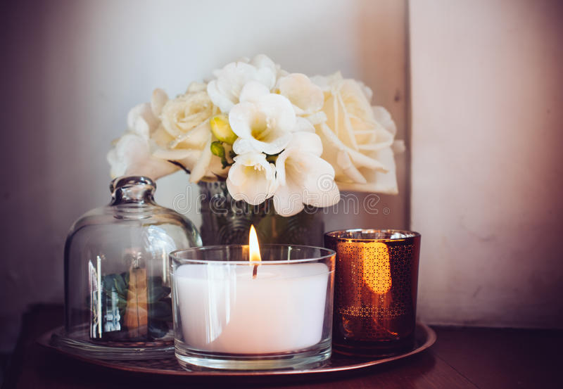 Home decor on a table royalty free stock images