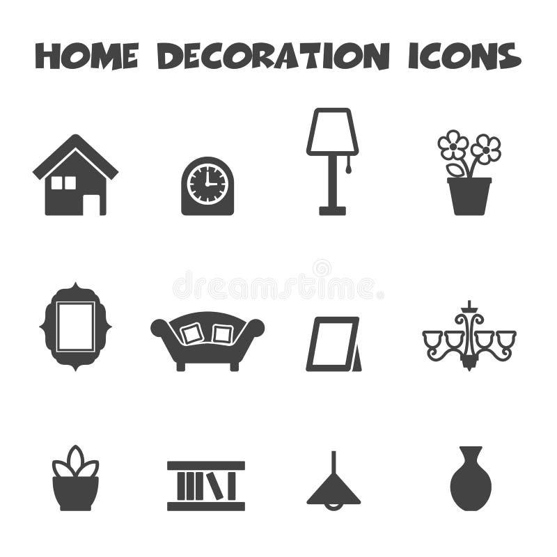 Home decoration icons royalty free illustration