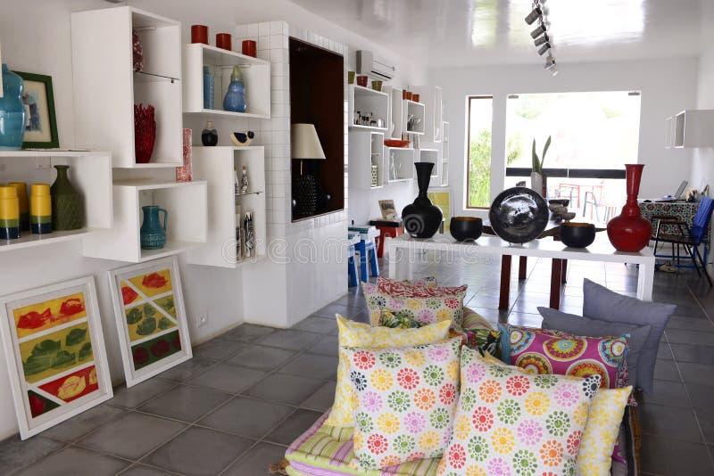 Home Decoration Shop at Djerba Island, Modern Art. Home decoration shop in Erriadh, a small village on the Tunisian island of Djerba stock photos