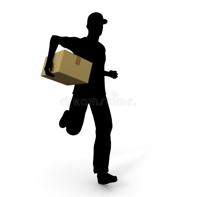 Home delivery. Courier service to deliver the luggage. Prompt delivery. I deliver in the car. A lot of luggage. Delivery to men vector illustration