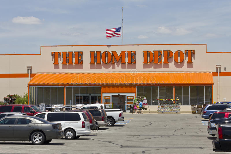 Home Depot Location II. Logansport, IN - Circa June 2016: Home Depot Location. Home Depot is the Largest Home Improvement Retailer in the US II royalty free stock image