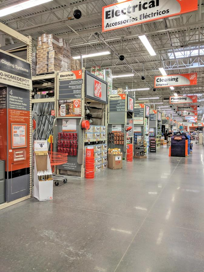 Home Depot-opslag royalty-vrije stock foto