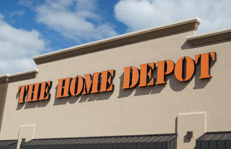 Home Depot stockent photographie stock libre de droits