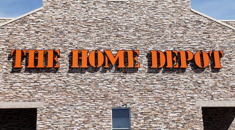Home Depot stockent le signe photos stock