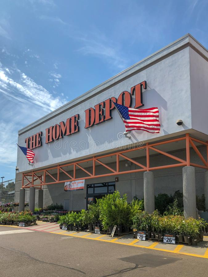 The Home Depot store in Oceanside. California, USA. Home Depot is the largest home improvement retailer and construction service in the USA royalty free stock photography