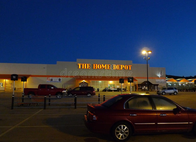 The home depot store at sunrise or sunset editorial photography early morning photo of the exterior of the home depot big box store in fort smith arkansas a major retail chain for do it yourself hardware lighting solutioingenieria Choice Image