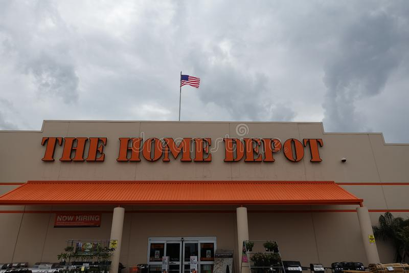 Home Depot una ferramenta americana fotografia stock