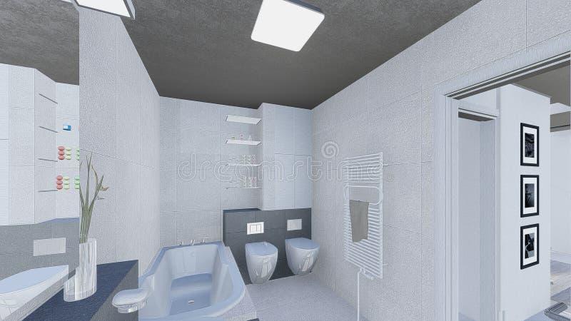 Home design. 3d design of modern home appartment indoor vector illustration