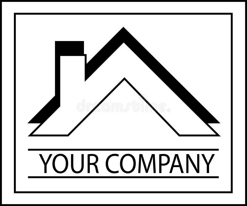 Home Design Property Company Icon oder Logo lizenzfreie abbildung