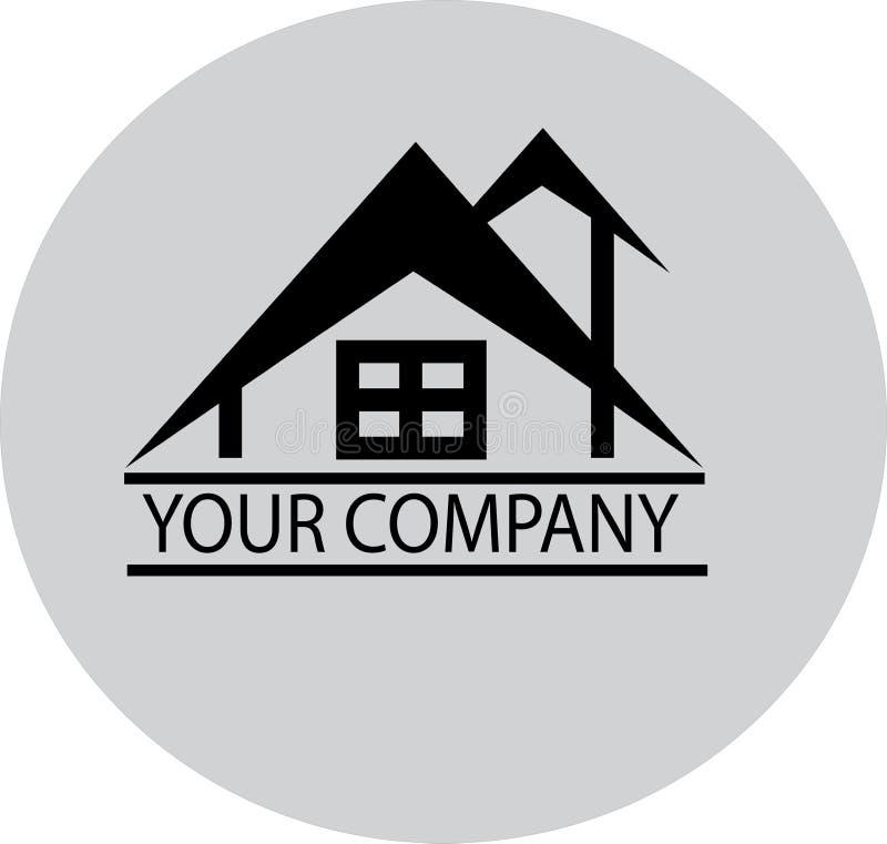 Home Design Property Company Simple Icon o Logo royalty illustrazione gratis